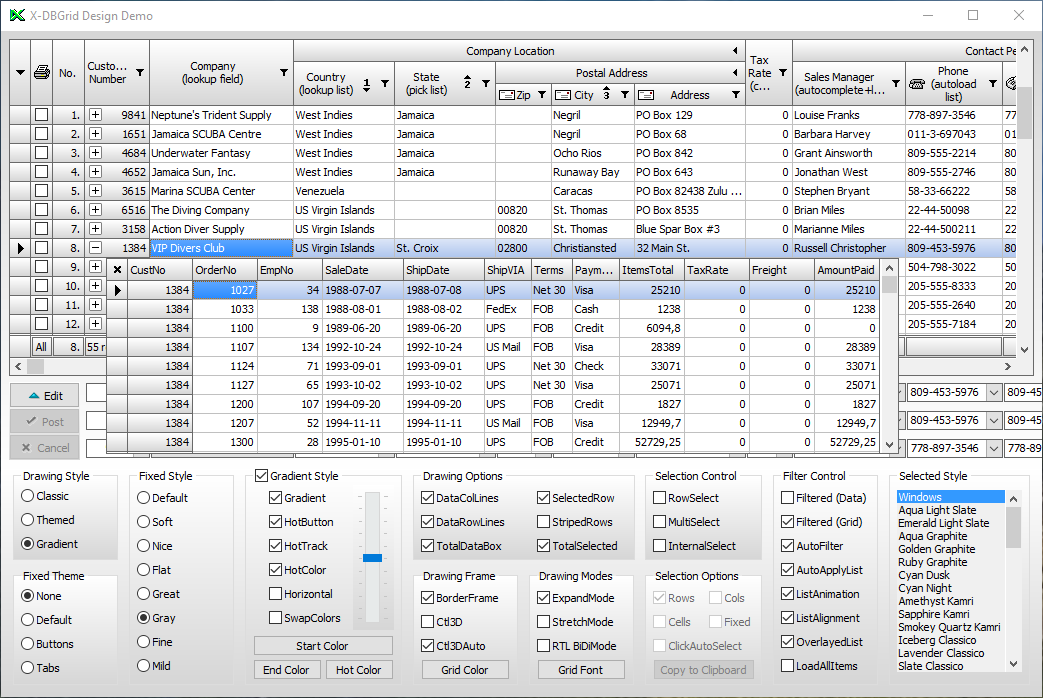 X-Files Components - Download the best advanced DBGrid